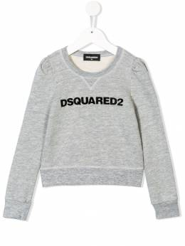 Dsquared2 Kids - flocked logo sweatshirt 38XD66CD936536560000
