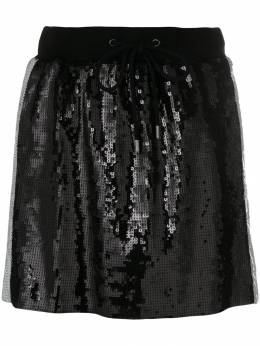 Alberta Ferretti side stripe sequin mini skirt J01216616