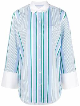 Equipment striped long shirt 002314TP01855