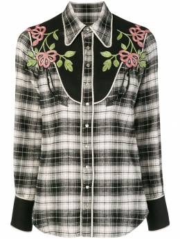 Dsquared2 floral embroidered tartan shirt S72DL0582S49260