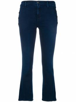J Brand side buttons cropped jeans JB001579