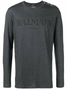 Balmain long sleeve logo T-shirt W8H8651I260