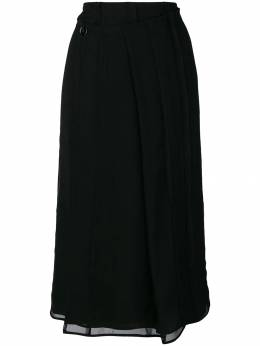 Carven - pleated wrap skirt 6J663A93055556000000