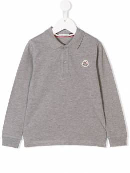 Moncler Kids - logo patch polo shirt 33568563093005569000