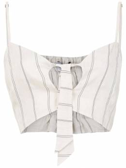 Olympiah Fiora linen cropped top 119170