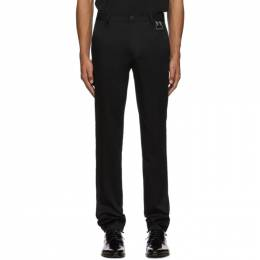 Givenchy Black Buckle Chino Trousers 192278M19100102GB