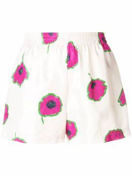 La Doublej floral fitted shorts TRO0006SIL001PAP0001