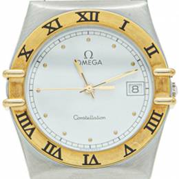 White Yellow Gold & Steel Constellation Watch 35MM Omega