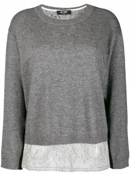 Twin-Set - boxy jumper with slip top MP396995099538000000