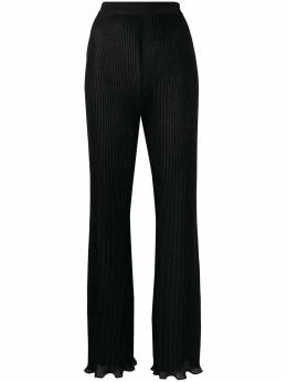 Alberta Ferretti ribbed wide-leg trousers A03276641