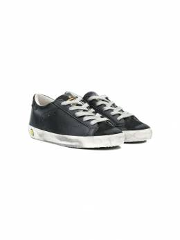 Golden Goose Kids - perforated star sneakers KS369A09930093030000