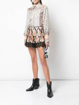 Paco Rabanne - floral pleated shorts CPA656PO666595033303