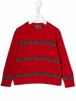 Young Versace - knitted logo stripe jumper 66995YA6605995065556