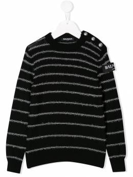 Balmain Kids - striped knit sweater 636LA996950660330000