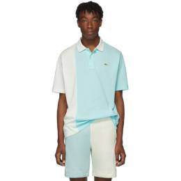Lacoste Blue and White Golf le Fleur* Edition Colorblocked Polo 192268M21200402GB