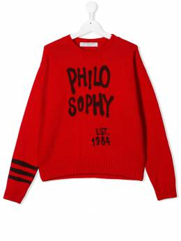 Philosophy Di Lorenzo Serafini Kids - TEEN logo embroidered sweater A65FL989503933900000