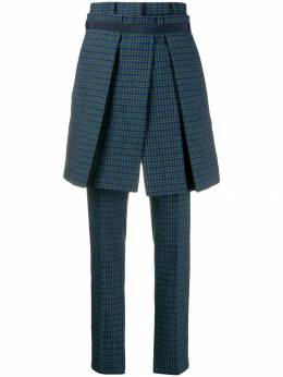 Sacai - checked pleated panel trousers 55966669503866600000