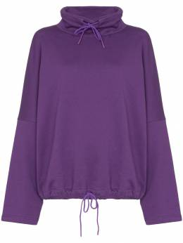 Martine Rose - batwing-sleeve oversized sweatshirt W99603ASUNBLEACHREDS