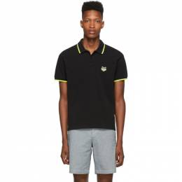 Kenzo Black High Summer Limited Edition Tiger Fitted Polo 192387M21201002GB