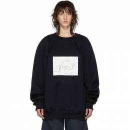 Plan C Navy Sketch Sweatshirt 191189F09800102GB