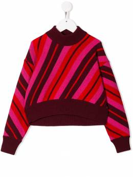 Marni Kids - striped mock neck jumper 0IRM66GL950663500000