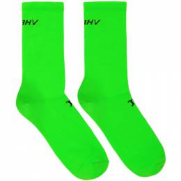 Misbhv Green Logo Socks 192937M22000202GB