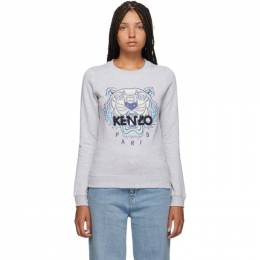 Kenzo Grey Classic Tiger Head Sweatshirt 192387F09800701GB