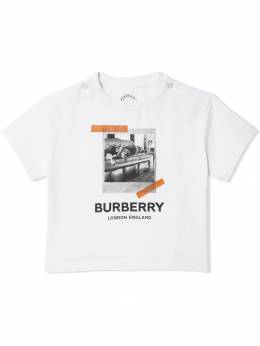 Burberry Kids - футболка с принтом 'Polaroid' 66369358509500000000