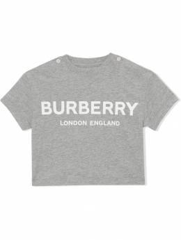 Burberry Kids - футболка с логотипом 90609356353300000000