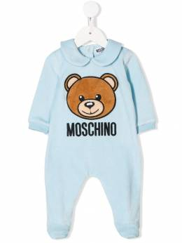 Moschino Kids - teddy bear logo pajamas 60ALGA65950363680000