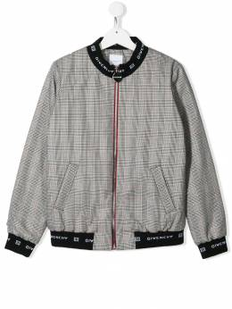 Givenchy Kids - TEEN houndstooth check bomber jacket 655Z5695030585000000