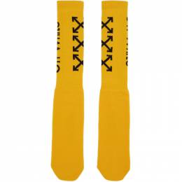 Off-White Yellow Carry Arrows Socks 192607F07601401GB