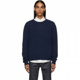 A.P.C.	 Navy Pullover Sweater 192252M20100405GB