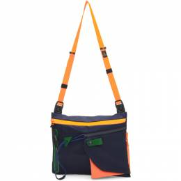 Master-Piece Co Navy Game Neon Bag 192401M17001401GB