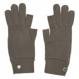 Rick Owens Grey Larry Touchscreen Gloves 192232M13500301GB
