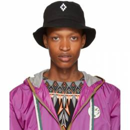 Marcelo Burlon County Of Milan Black Starter Black Label Edition Cross Bucket Hat 192539M14000101GB