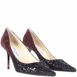 Jimmy Choo Ombre Glitter Pointed Toe Pumps Size 37.5