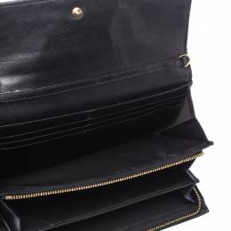 Dior Black Cannage Patent Leather Lady Dior Wallet on Chain 211079