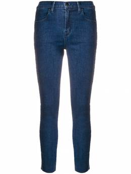 J Brand - high rise cropped skinny jeans 69666939363330000000