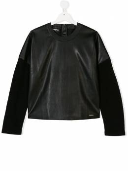 Dsquared2 Kids - TEEN leather effect sweatshirt 0YYD66K3936853630000