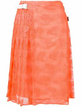 Christopher Kane pleated floral lace skirt 533838UBQ01