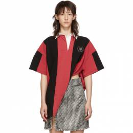 Alexander Wang Red and Black Rugby Shirt 1CC2191241