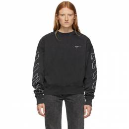 Off-White Black and White Abstract Arrows Sweatshirt OMBA035F19E300111001