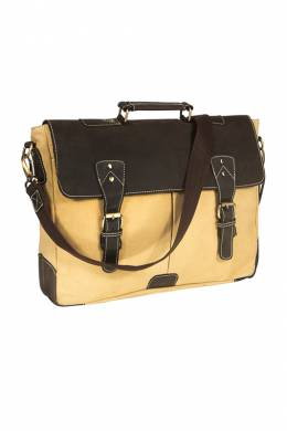 briefcase WOODLAND LEATHER BR6020_CREAMBROWN