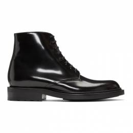 Saint Laurent Black Army Derby Boots 581861BSS00