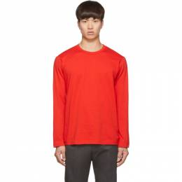Comme des Garcons Shirt Red Logo Long Sleeve T-Shirt 192270M21300702GB