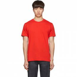 Comme des Garcons Shirt Red Logo T-Shirt 192270M21300804GB