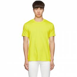Comme des Garcons Shirt Yellow Logo T-Shirt 192270M21300903GB
