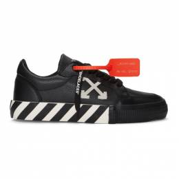 Off-White Black and White Low Vulcanized Sneakers OMIA085F19D680011001