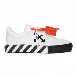 Off-White White and Black Low Vulcanized Sneakers OMIA085F19D680010110